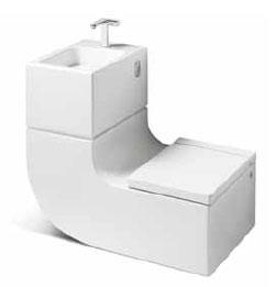 WC šolja i umivaonik u jednom elementu