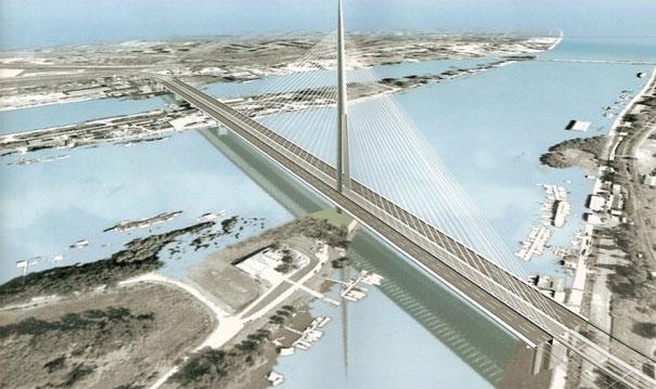 Vizuelizacija mosta Ada Ciganlija