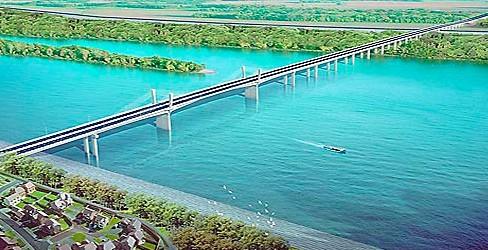 Gradnja mosta Zemun-Borča u septembru