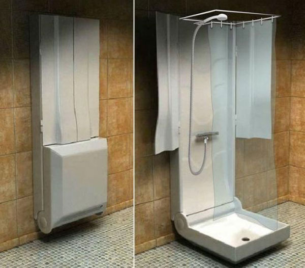 Tuš na preklop za mala kupatila