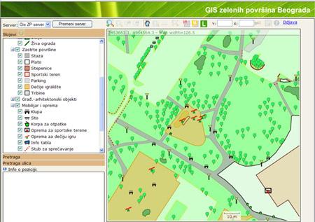 gis mapa beograda GIS zelenih površina Beograda gis mapa beograda