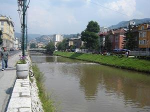 Novi most na Miljacki u Sarajevu