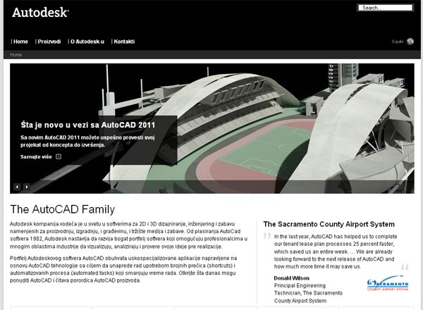 Novi lokalizovani AutoCAD mikro web-site