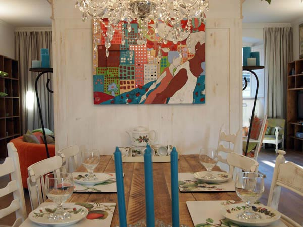 Umetnost Lene Kramarić u enterijeru apartmana u Dubrovniku