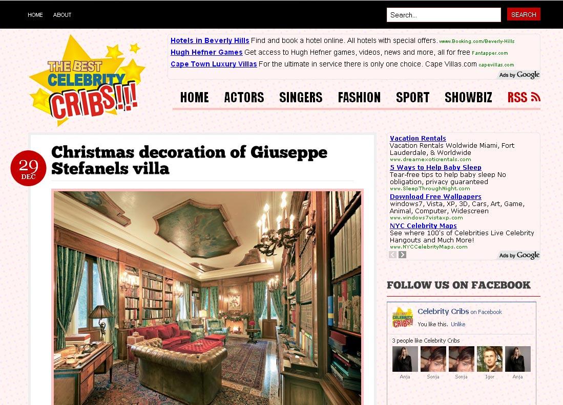 Kuće slavnih: novi sajt Celebrity Cribs
