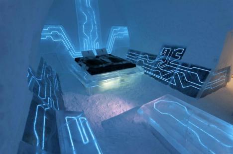 Ledeni hotel u Švedskoj kao omaž filmu Tron