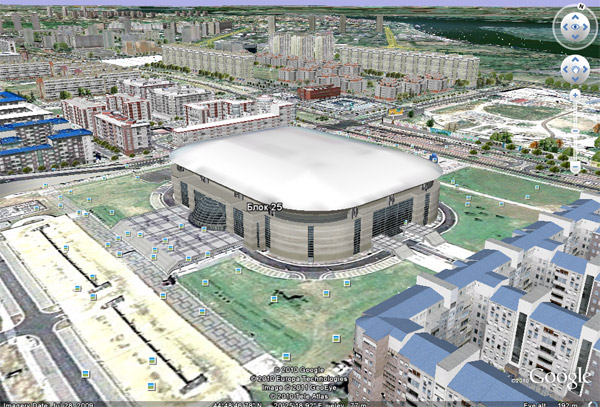 3d Novi Beograd Na Servisu Google Earth