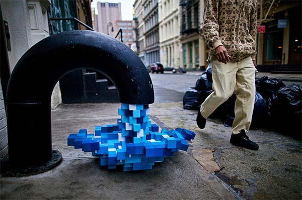 Savremena ulična umetnost u Njujorku: Pixel Pour 2.0