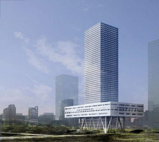 Gradnja zgrade berze u Šencenu