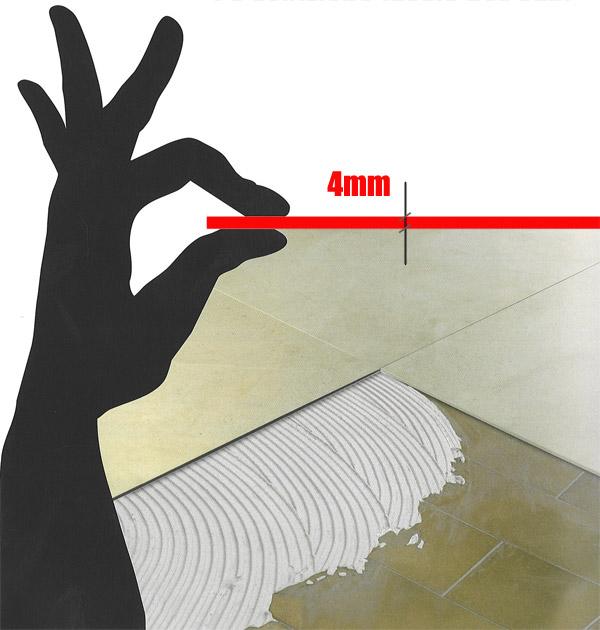 Lepljenje pločica debljine 4 mm na postojeće