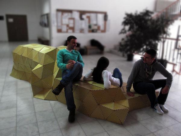 Origami Forum: mobilijar za okupljanje