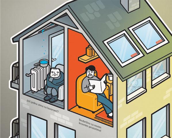 Zamenite stare prozore novim Velux krovnim prozorima