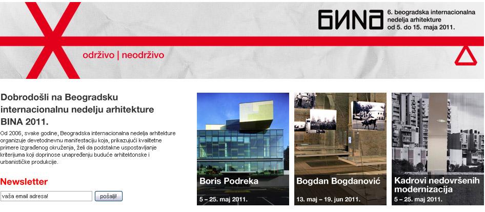 Počela nedelja arhitekture u Beogradu – BINA