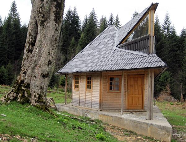 Planinska kuća, arhitektura u drvetu