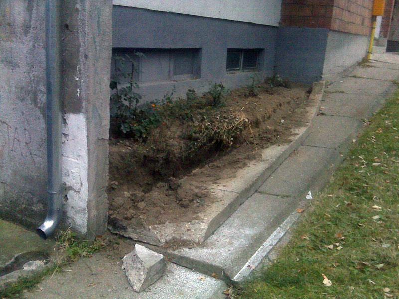 Betonska ograda nije izdržala