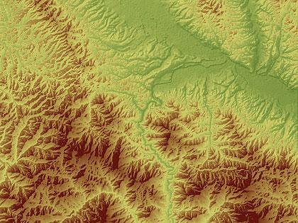 Digitalni model terena Republike Srbije na GeoSrbija