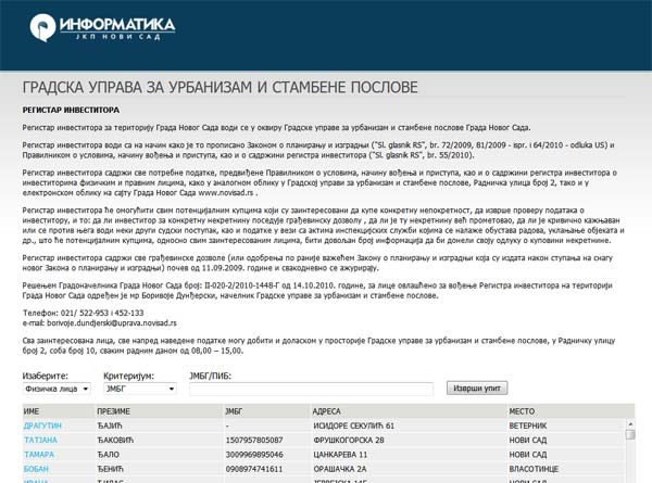 Informatika demantovala informaciju o preskupom sajtu