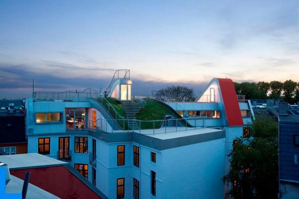 Igralište na krovu zgrade u Kopenhagenu