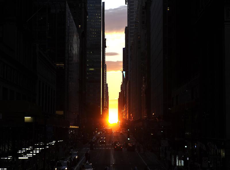 Manhattanhenge: Zalazak Sunca između solitera