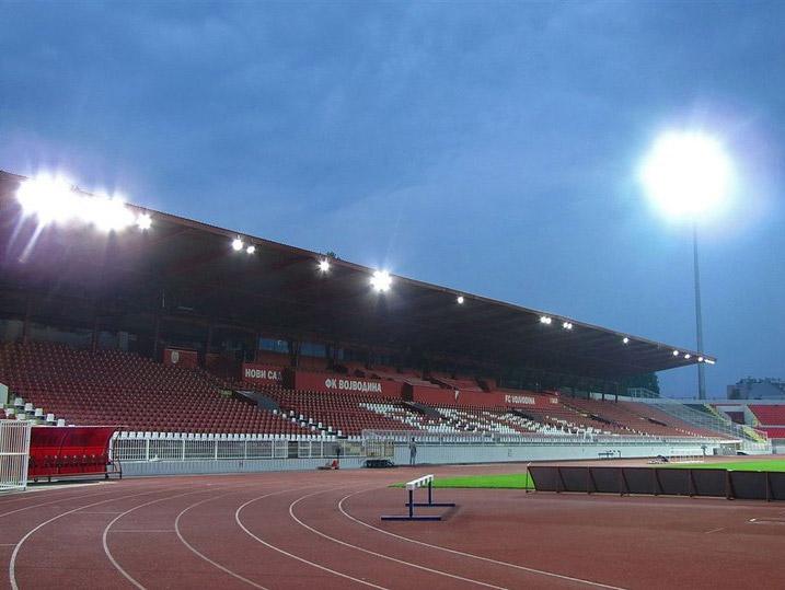 Osvetljenje stadiona Karađorđe u Novom Sadu