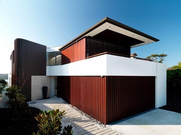 Moderna vila s vizuelnim kontrastima