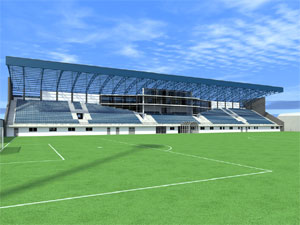 Izgled novog stadiona FK Metalac, Gornji Milanovac