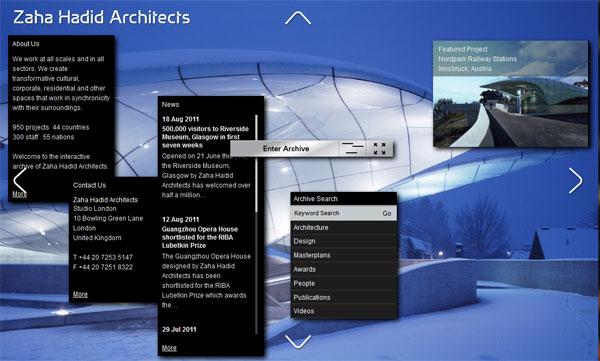 Novi web sajt Zahe Hadid