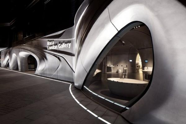 Roca salon u Londonu od Zahe Hadid