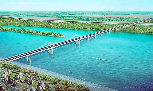 Udareni temelji mosta Borča – Zemun