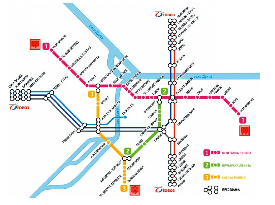 mapa metroa beograd Beograd dobija metro 2017. godine mapa metroa beograd