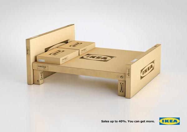 Ikea nameštaj od kartona za reklamnu kampanju