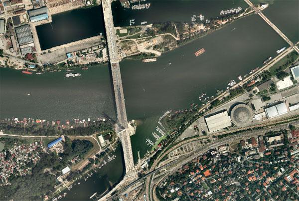 Digitalni ortofoto snimak Mosta na Adi