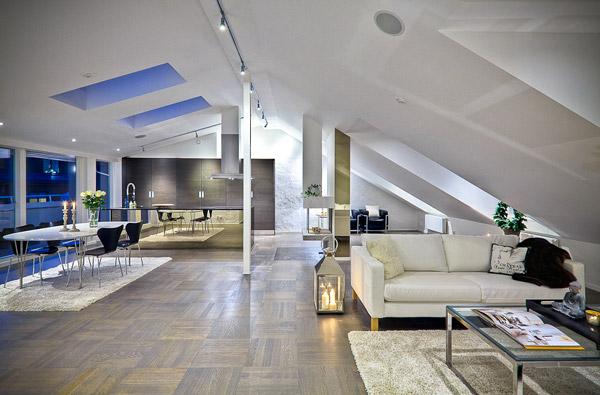 Ure enje potkrovlja tri luksuzna re enja for Mp arredamenti