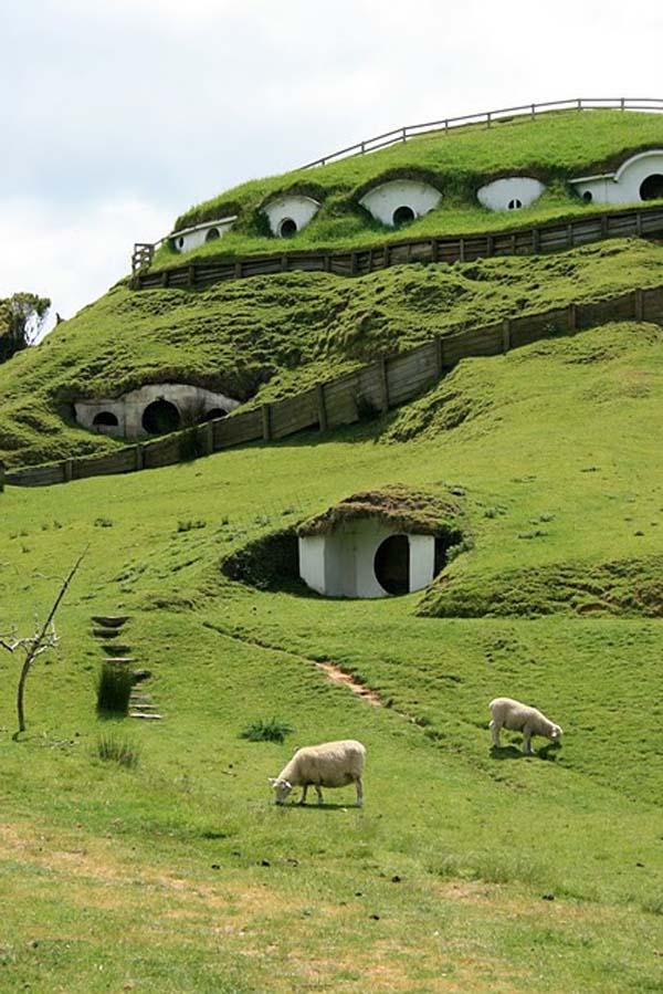 Kuće Hobita iz Gospodara prstenova na Novom zelandu