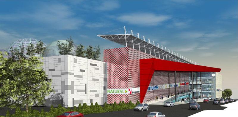 Stadion na krovu novog tržnog centra u Beogradu