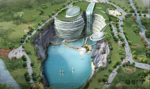 Kina gradi hotel na litici