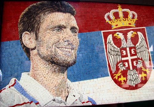 Novak Đoković na libanskom mozaiku