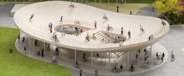 Interesantan biciklistički paviljon u Kini