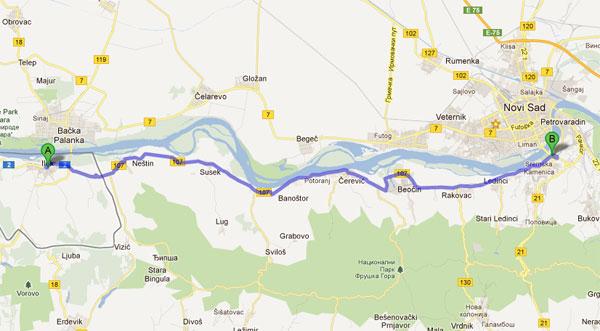 Biciklistička staza Novi Sad – Ilok?
