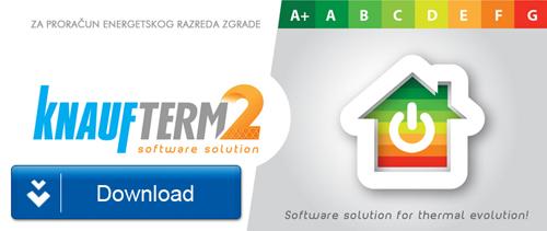 KnaufTerm 2 PRO besplatan softver za proveru energetskog razreda objekata