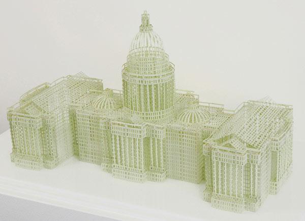 Makete zgrada od papira iz knjiga