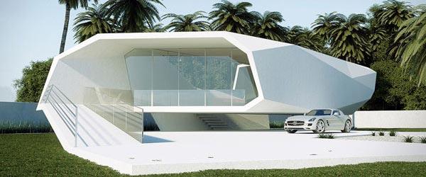 Letnja kuća u obliku talasa
