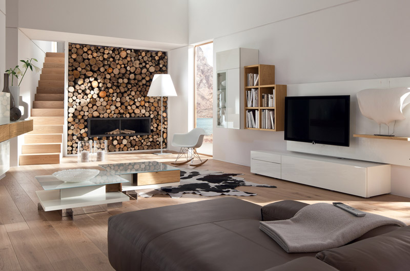 holz tapete wohnzimmer:Interesting Living Room Design