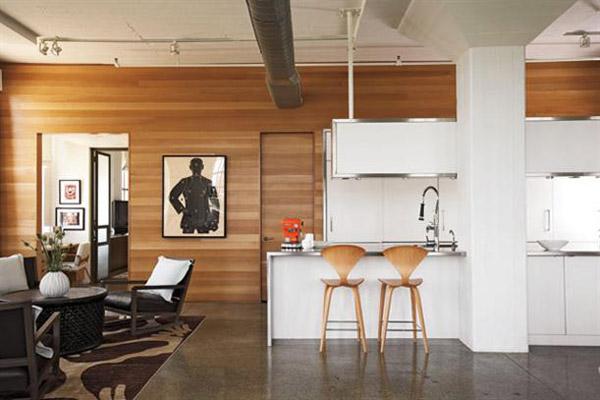 Drvene obloge na zidovima enterijera for Interiores de casas contemporaneas