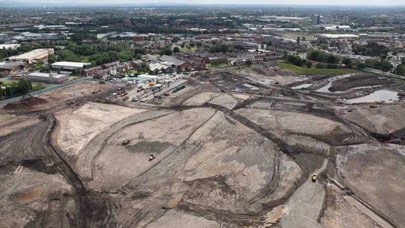 Slike iz vazduha gradilišta Mančesterovog sportskog kompleksa