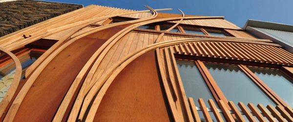 Kuća sa drvenom fasadom u Holandiji