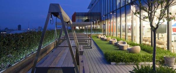 Vrtlarstvo i ekologija u centrali Googlea u Londonu