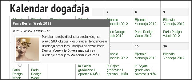 Nova rubrika: Kalendar događaja