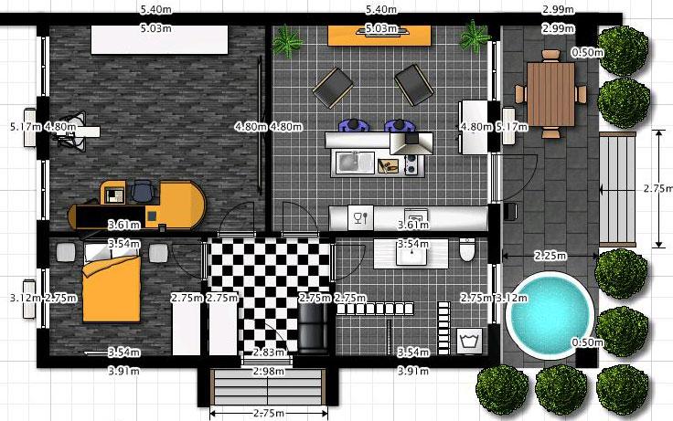 Potrebna veličina dnevne sobe za smeštanje kuhinje