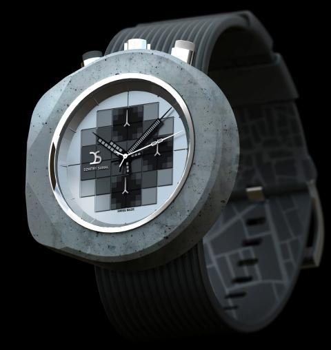 Poklon za građevince: sat od betona